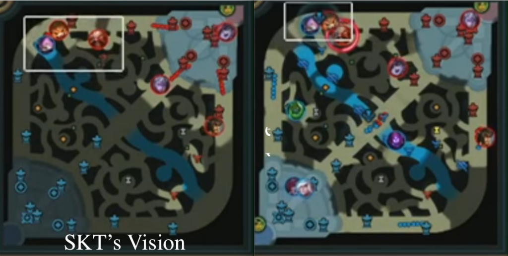 Vision map during Game 1 of the Worlds 2017 Grand Finals.