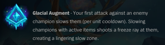 Glacial Augment is a utility rune, but out of all the new options in Runes Reforged, it doesn't offer much use.