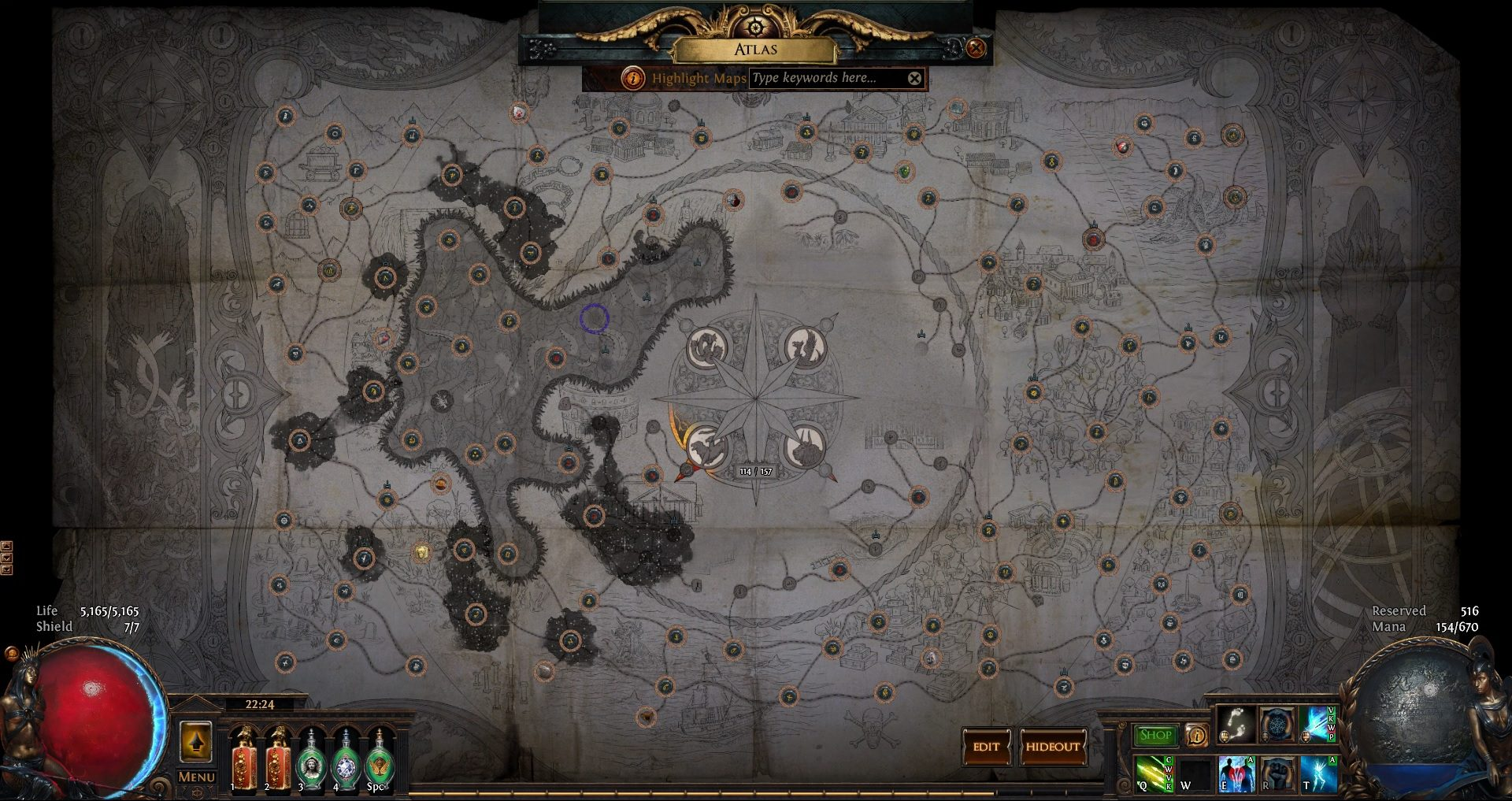 This is what my Path of Exile Atlas looks like.