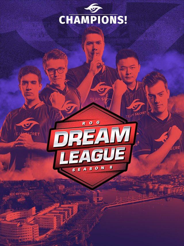 Team Secret DreamLeague Champions