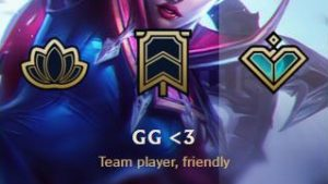 GG <3 honor in League of Legends.