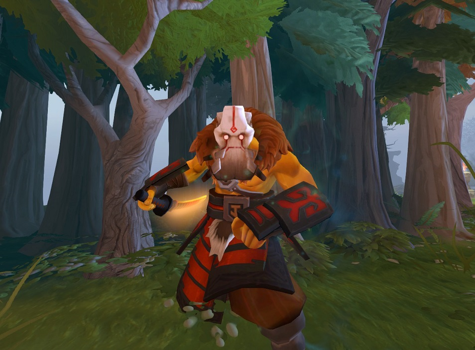 There's no doubt that Juggernaut's Prey-Tracker Aspect Mask is one of the ugliest pieces of digital bling that you could ever put on a Dota 2 hero.