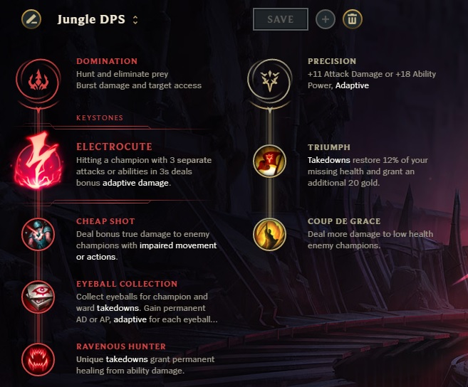 DPS Jungle Runes