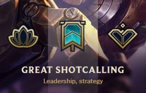 Great Shotcalling honor in League of Legends.