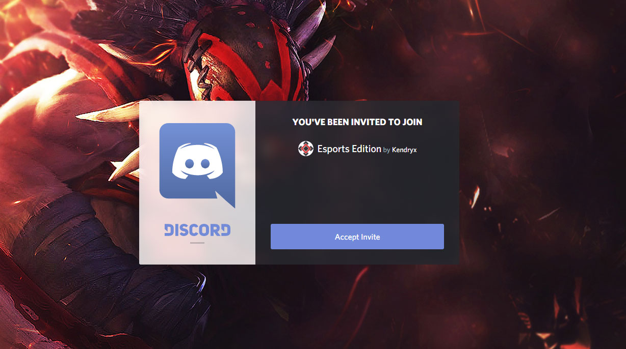 Invitation to join a Discord Group