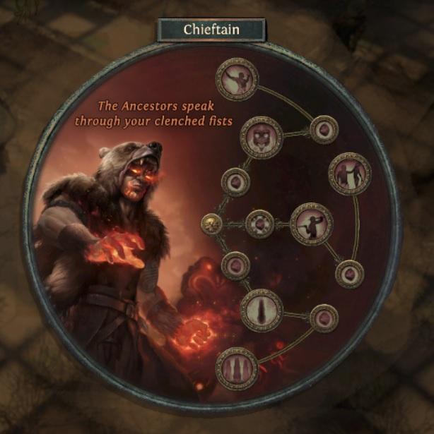 Chieftain Ascendancy Changes