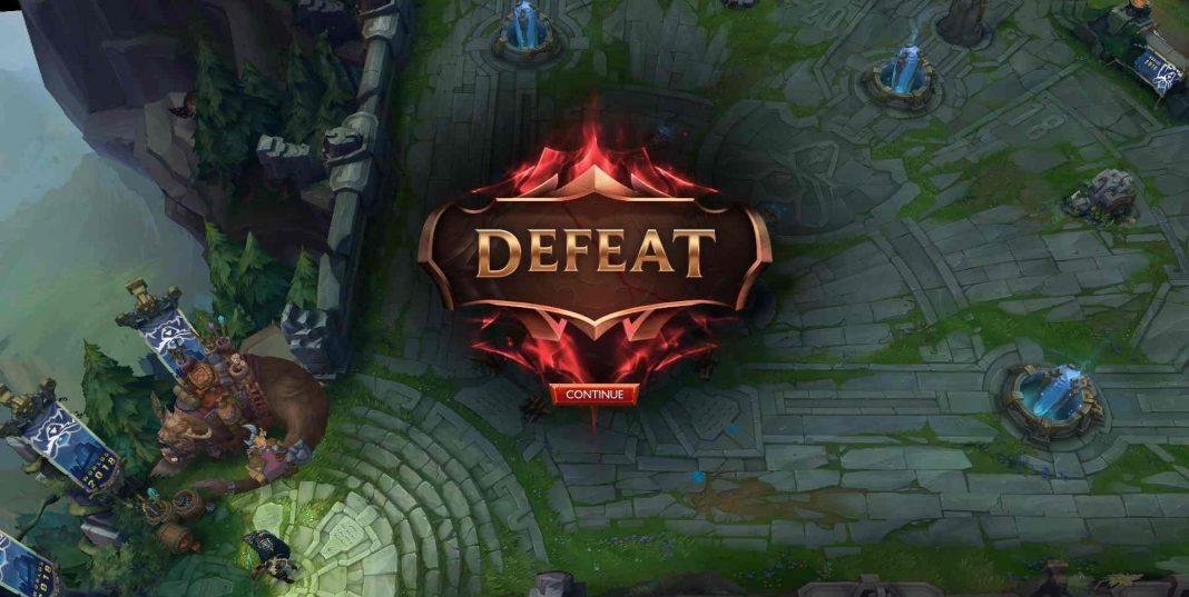 League defeat