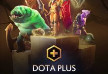 Dota Plus graphic with heroes.